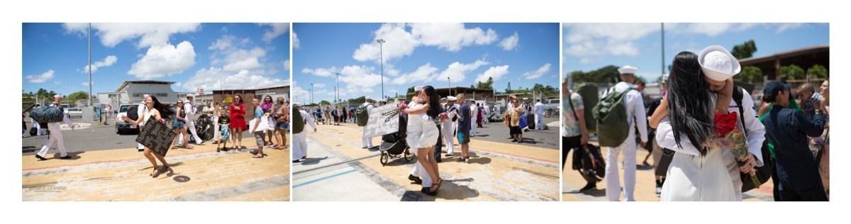 Navy military homecoming reunion