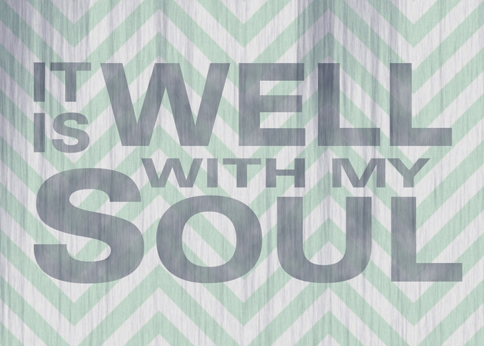 christian, printable, word art, free, freebie, it is well with my soul