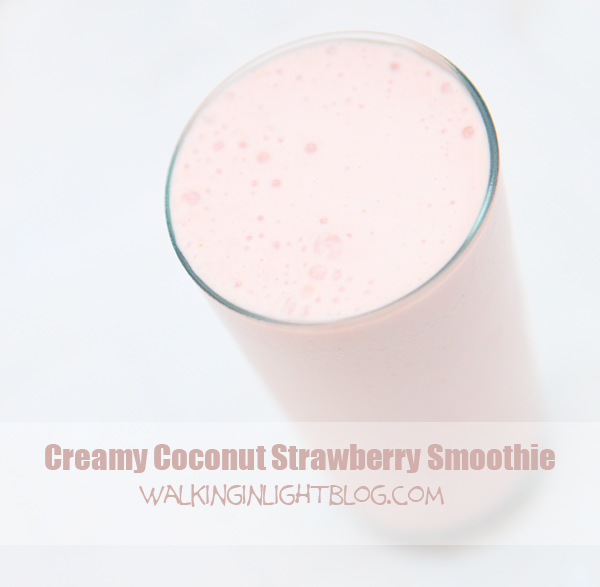 coconut strawberry smoothie