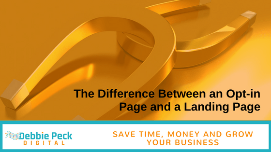 The Difference Between an Opt-in Page and a Landing Page