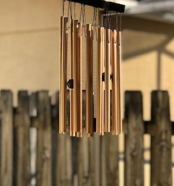 Listening to the Sounds of Wind Chimes