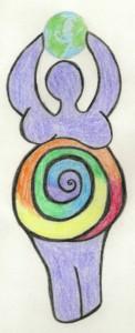 goddess spiral color w earth