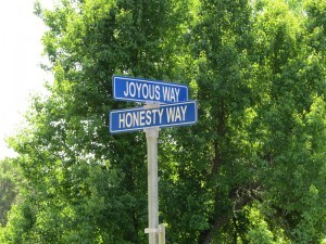 street sign at city of ten thousand buddhas