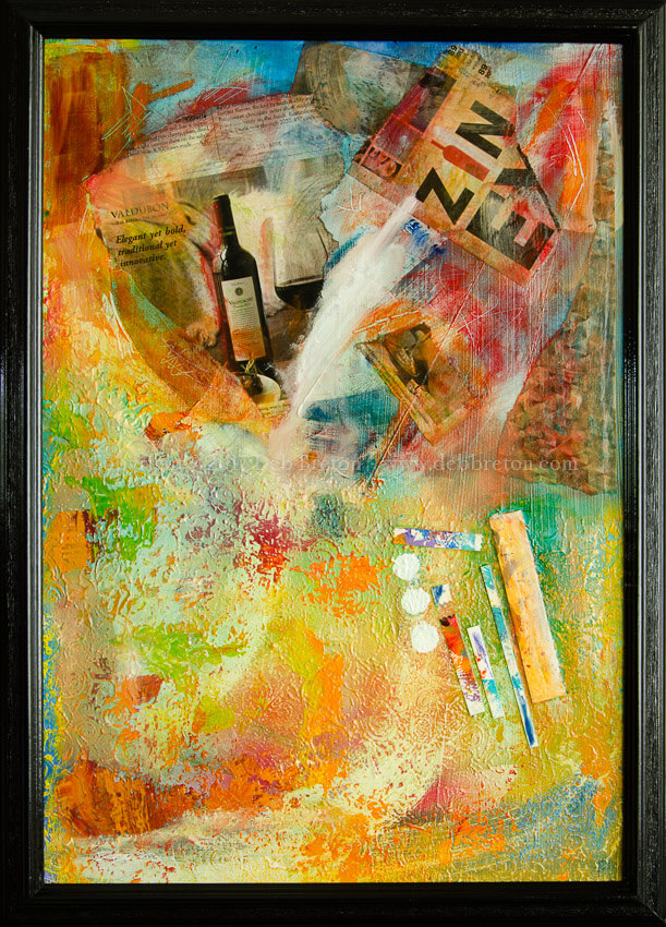More Wine Mixed Media