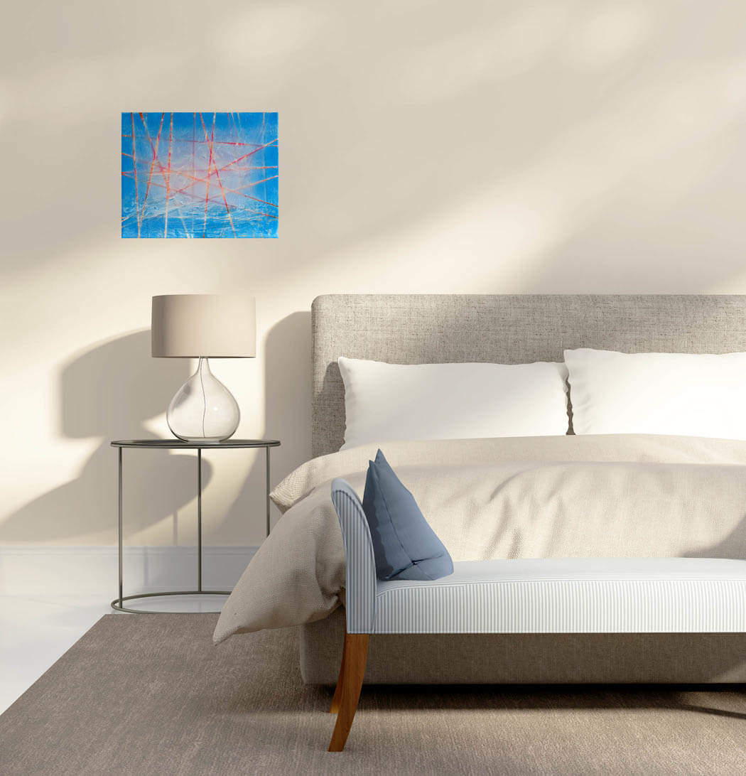 Lost at Sea painting modern bedroom space