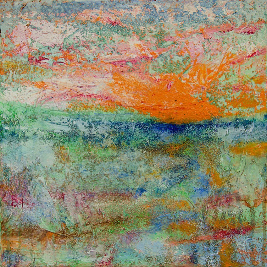 On The Bayou landscape painting by abstract artist Deb Breton