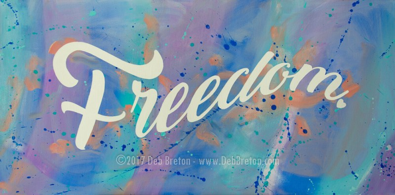 large commissioned FREEDOM painting