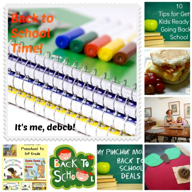 Back to school round-up- It's me, debcb!