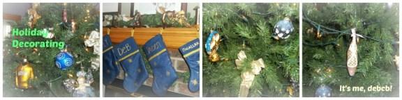 Decorating for Christmas- ti's me, debcb!