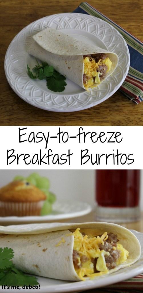 Easy to freeze Breakfast Burritos