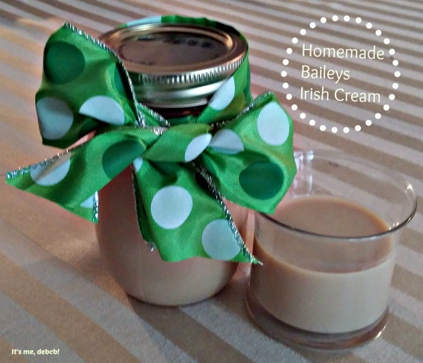 Homemade Baileys Irish Cream- It's me, debcb!