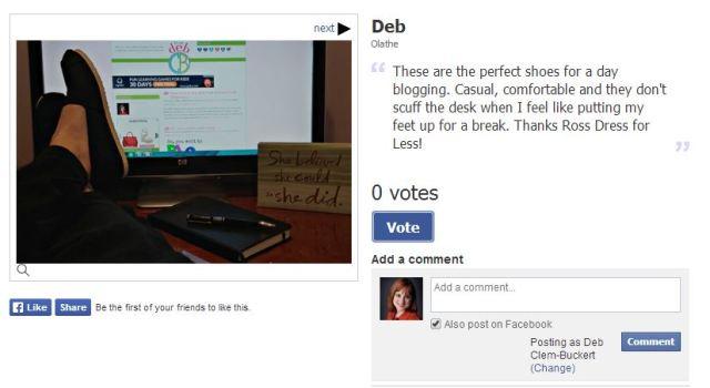 Show off your Shoes Contest- It's me, debcb!