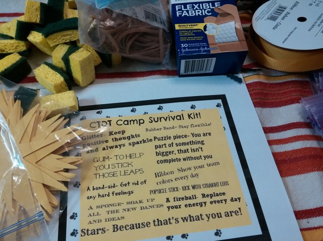 Dance Team Camp Survival Kit