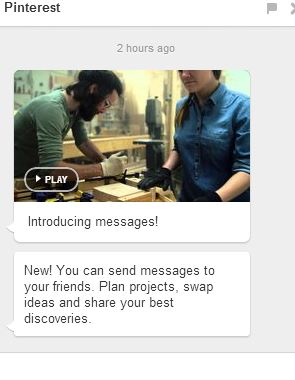 Yes, you can send Pinterest messages