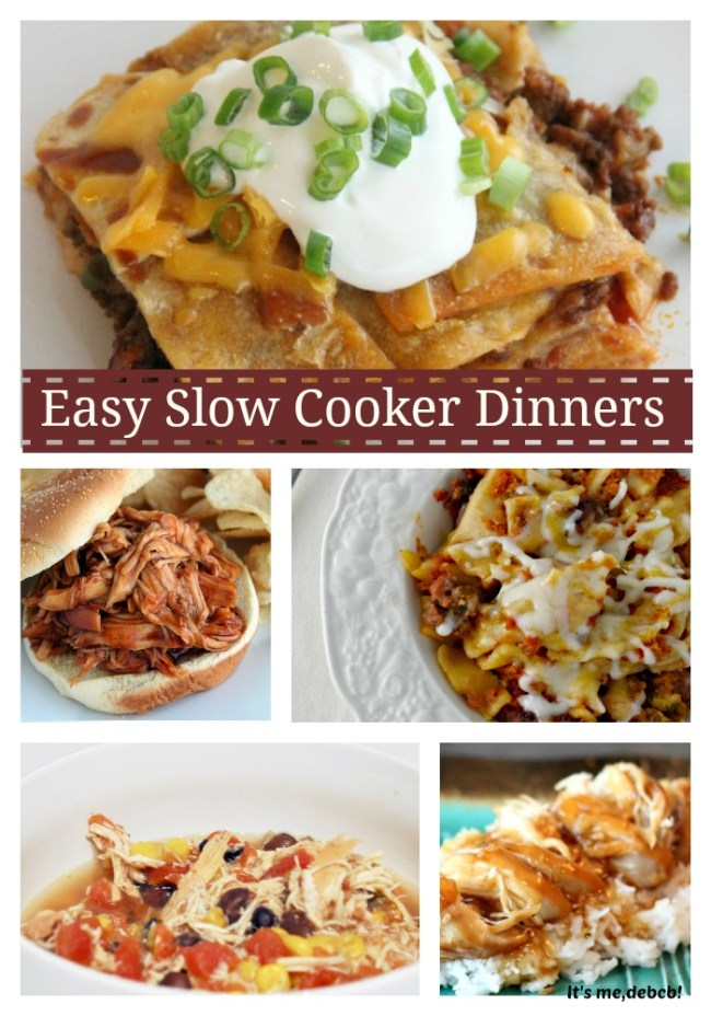 Easy Slow Cooker Dinners