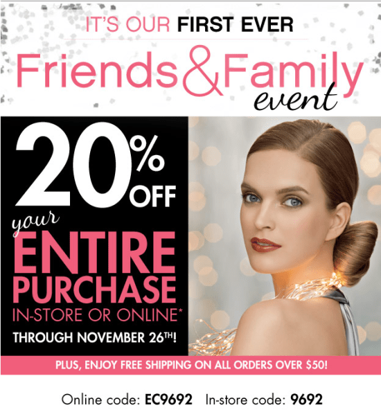 Beauty Brands Friends and Family Event- 20% off