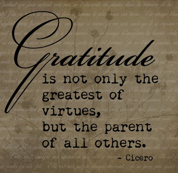 Gratitude- It's me, debcb!