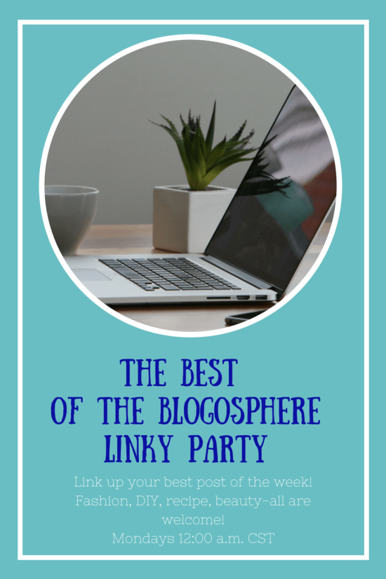 The Best of the Blogosphere Linky Party- It's me, debcb!