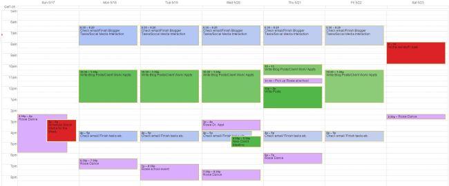 Sample Time Blocking Schedule- It's me, debcb