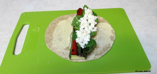 Grilled Vegetable Wraps Assemby.