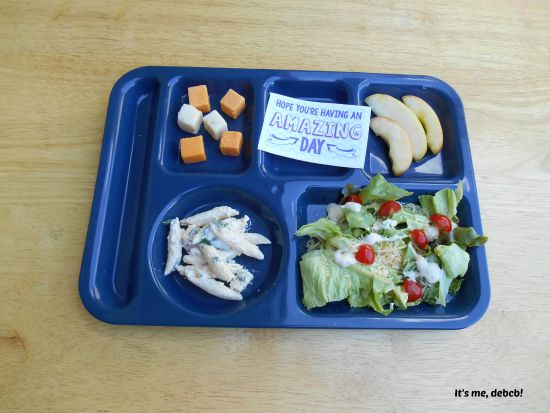 Big Kid School Lunch Salad- It's me, debcb!