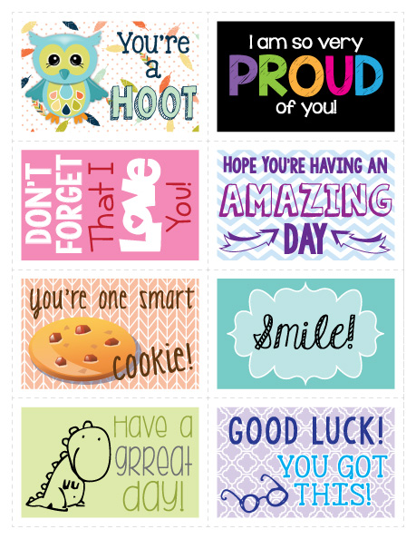 Free Printable Lunch Box Notes- It's me, debcb!