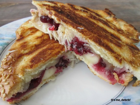 Turkey, Brie and Cranberry Panini