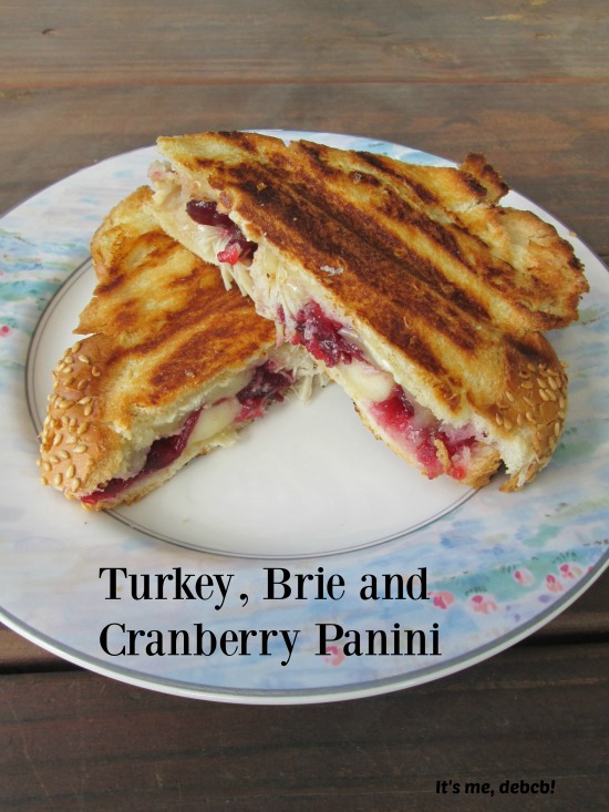 Leftover turkey, brie and cranberry sauce