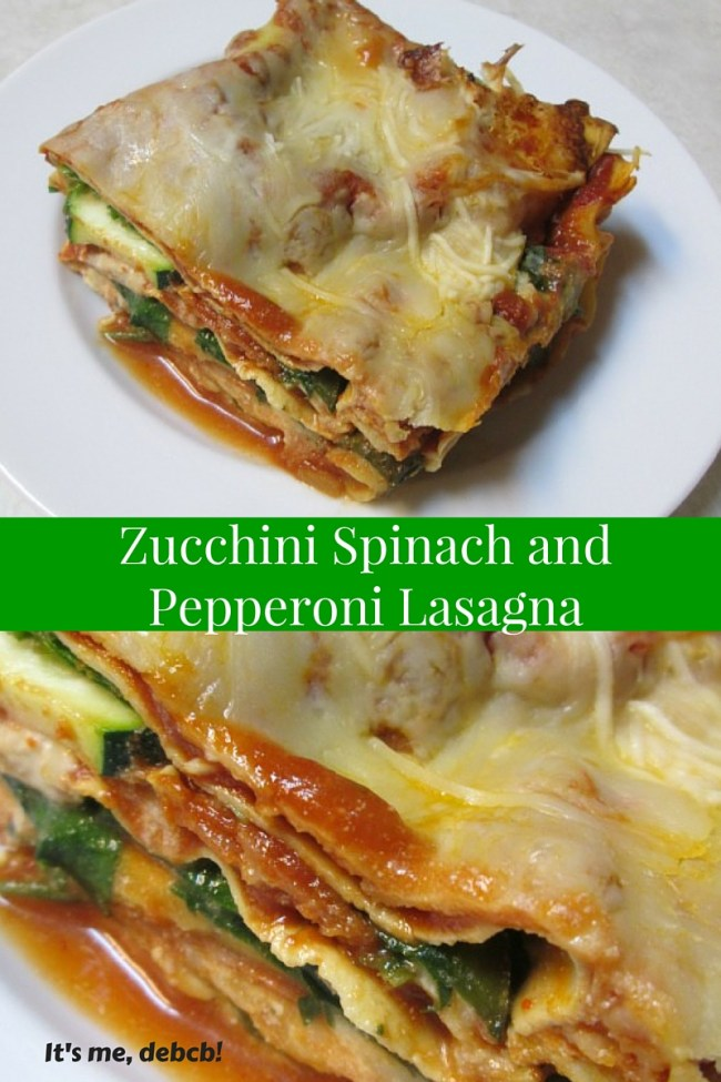 Zucchini Spinach and Pepperoni Lasagna
