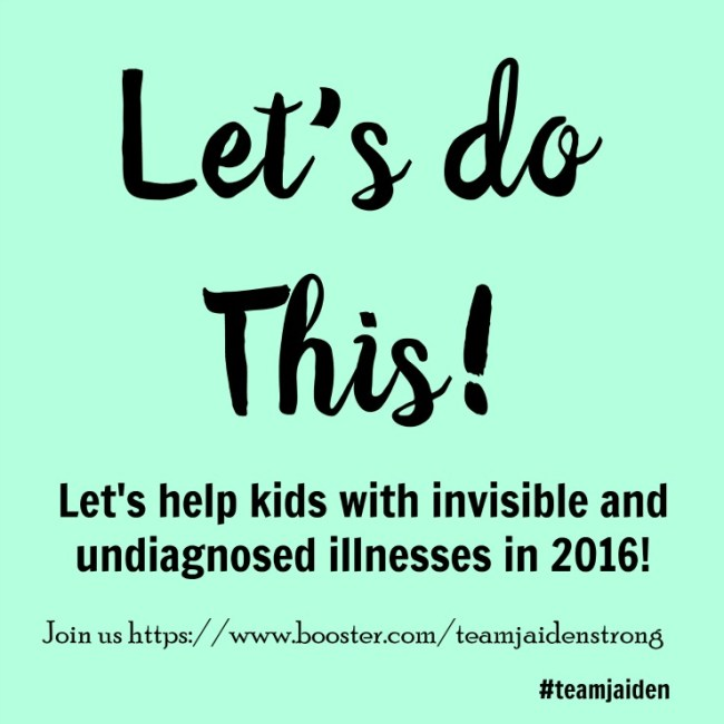 Support invisible and undiagnosed illness awareness