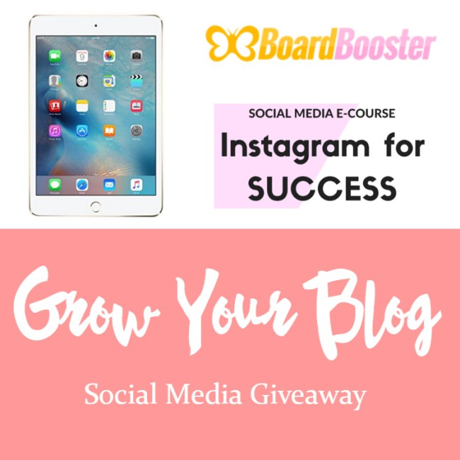 Grow your Blog Social Media Giveaway