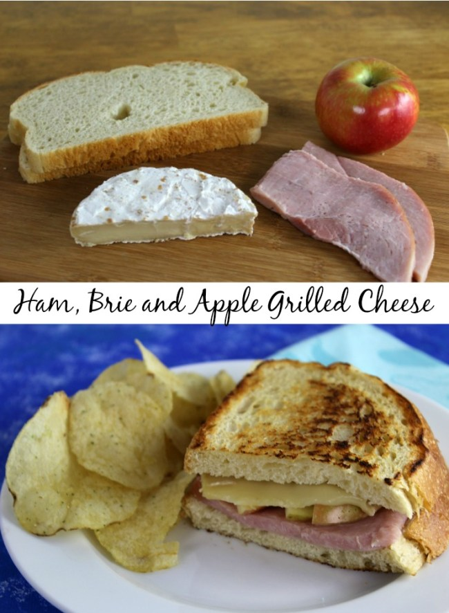 Ham, Brie and Apple Grilled Cheese