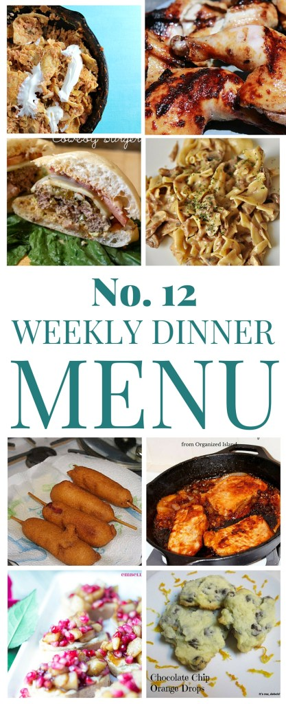 What's for dinner (Menu 12)