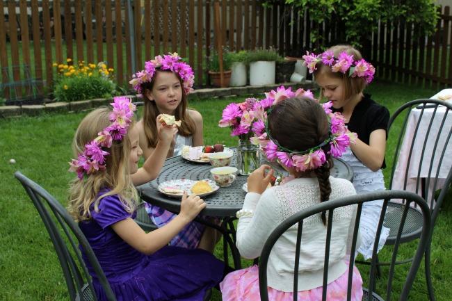 Girls having tea