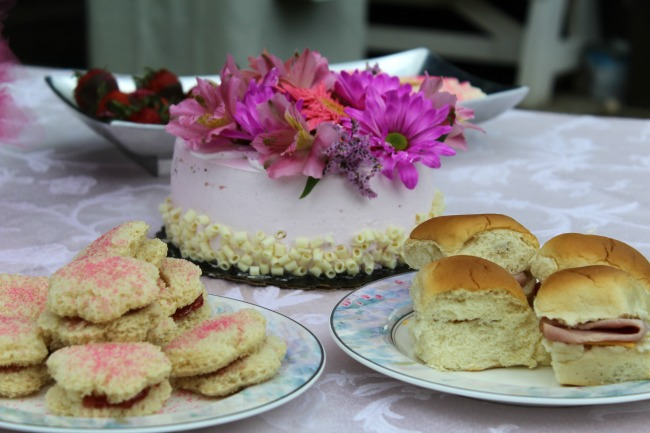 Summertime tea party food