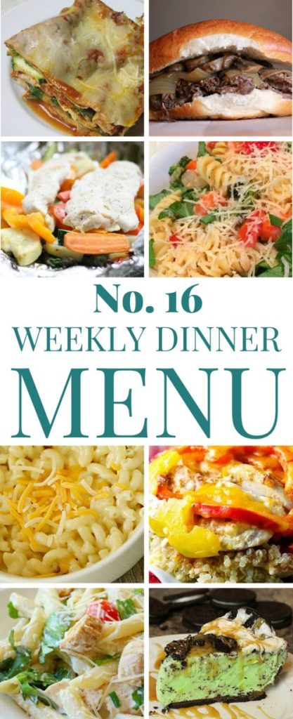 What's for dinner week 16