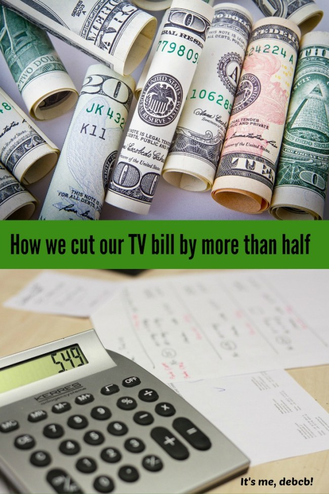 Cut Tv our Bill by more than half