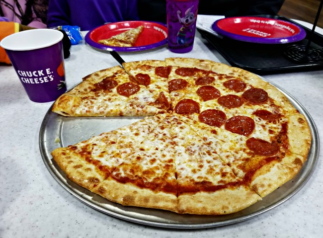 Pizza at Chuck E. Cheese's