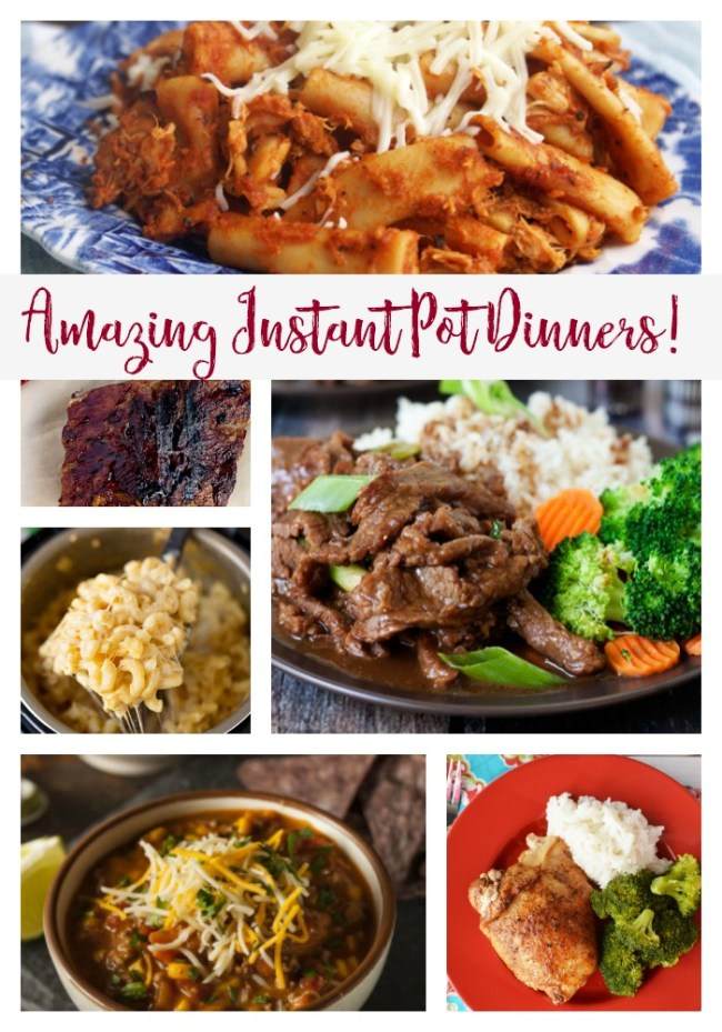 Amazing Instant Pot dinners