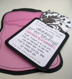invite is printed on removable piece