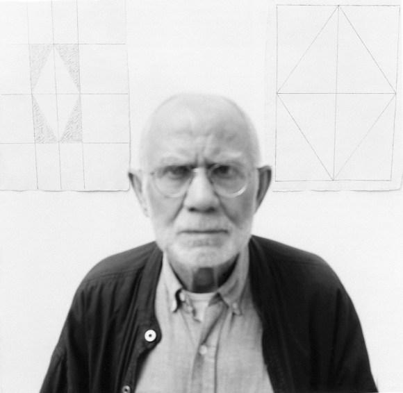 portrait of artist Dan Van Severen is his studio, Ghent.