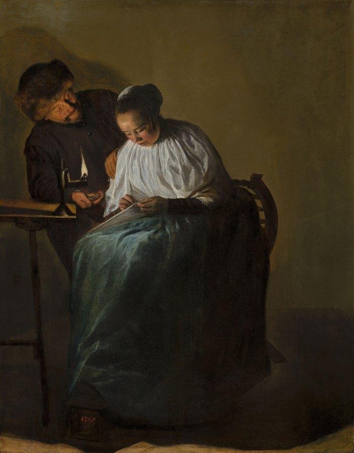 Judith-Leyster---Man-die-een-vrouw-geld-aanbiedt-Mauritshuis