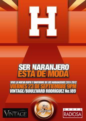 Invitación a presentación de uniformes de Naranjeros de Hermosillo