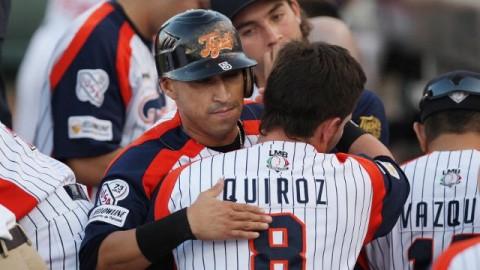 Carlos Gastélum y Esteban Quiroz de Tigres de Quintana Roo