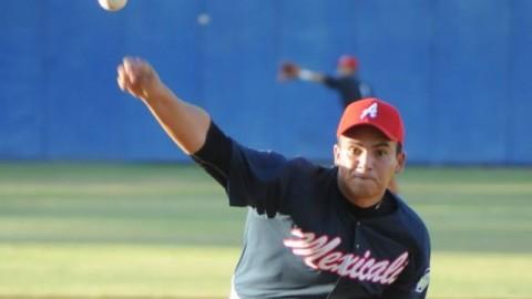 Jaime Lugo, pitcher de Aguiluchos de Mexicali en la Liga Norte de México