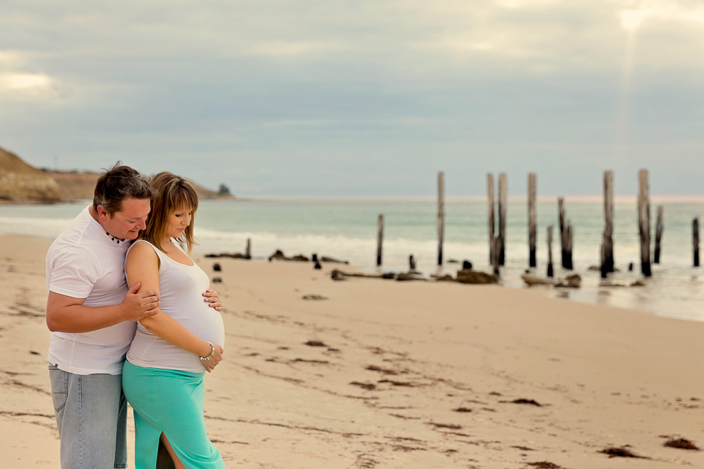 Port Willunga Beach Maternity Photo