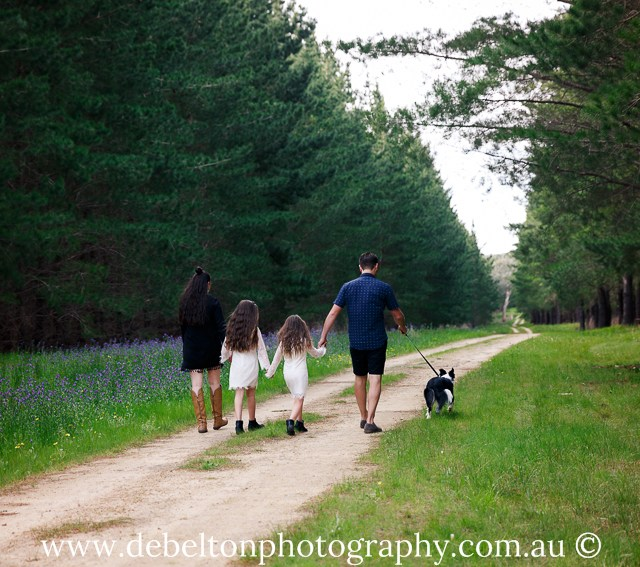 A fun family session included walks in Kuitpo Forest?