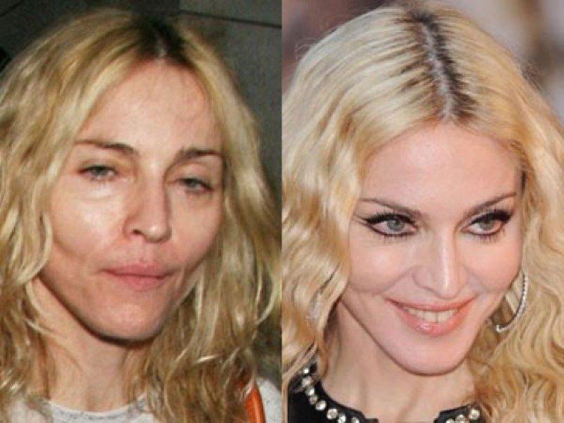 antes y despues del maquillaje famosas