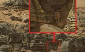 La NASA publica una foto donde se puede apreciar aparentemente a un cangrejo en Marte