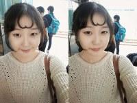 Descubre la nueva tendencia de peinado romántico entre las chicas coreanas: un corazón en el flequillo.